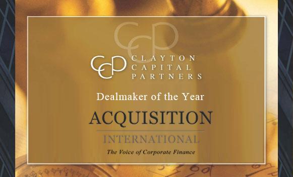 Clayton Capital Partners wins the prestigious 2014 M&A Award.
