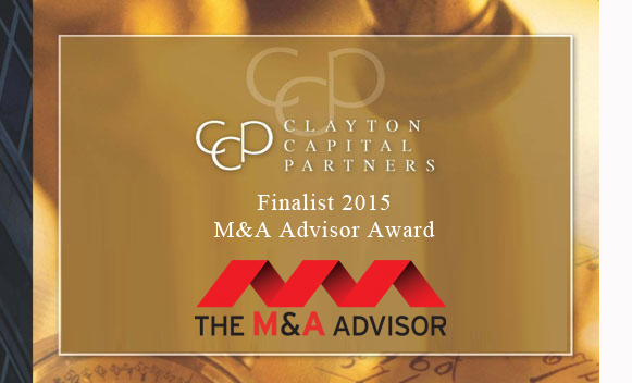 Finalist for the 2015 M&A Advisor Award in the category of Boutique Investment Banking Firm of the Year
